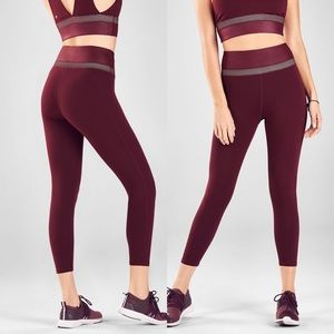 Fabletics | Maroon High Waisted Powerhold Leggings